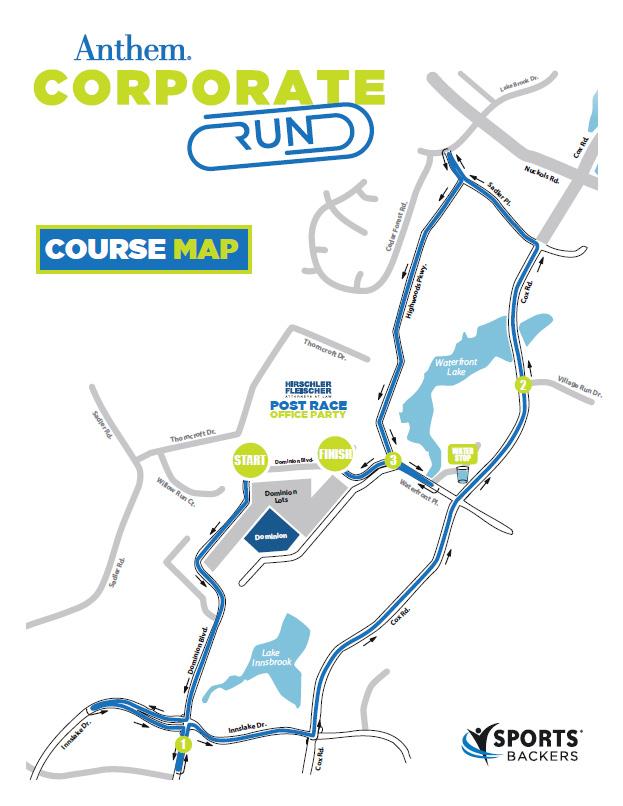 Anthem Corporate Run Course Map