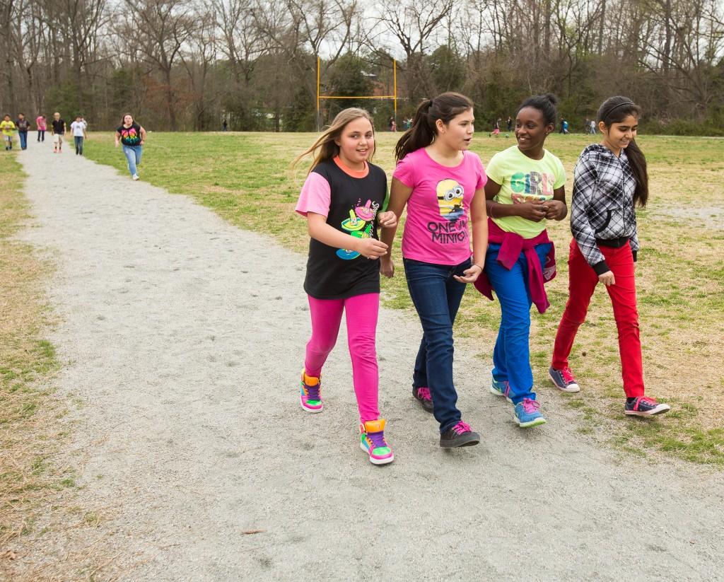 Kids Run RVA Belwood Elementary girls