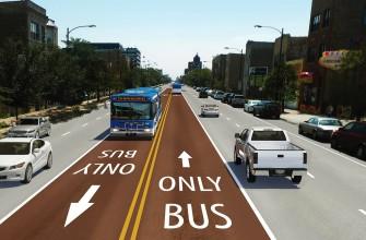 BRT no median