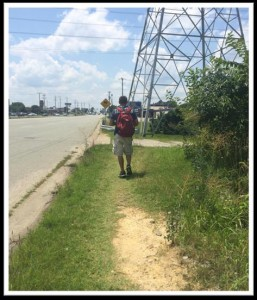 guy walking on goat path