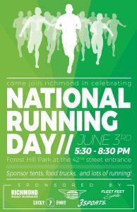 RVA National Running Day flyer