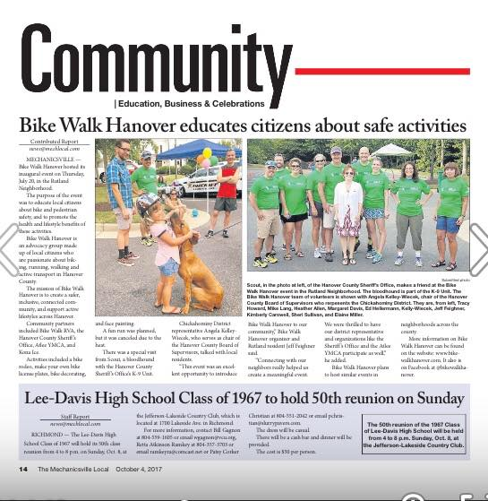 Bike Walk Hanover in the news