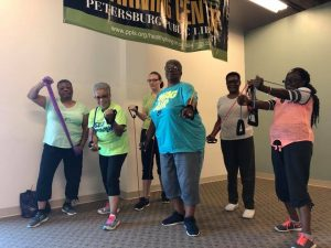 Fitness Warrior class participants