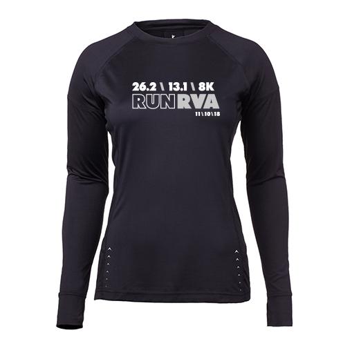 9145cbf6 Run RVA 26.2 13.1 8k 2018: Women's Long Sleeve Tech Tee - Sports Backers