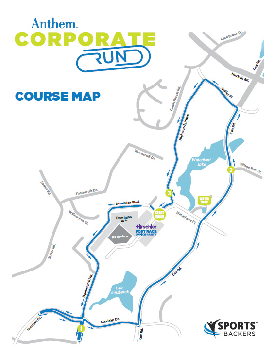 Anthem Corporate Run Course Map