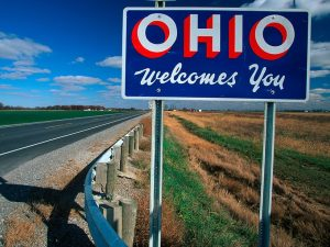 Ohio Welcome Sign
