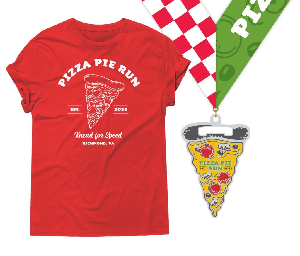 Pizza Pie Run Shirt & Medal